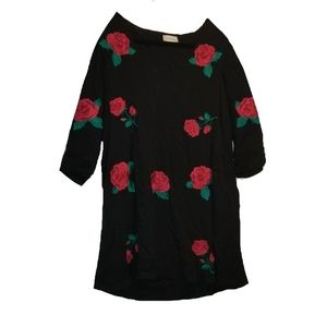 ALTAR'D STATE rose embroidered tunic dress